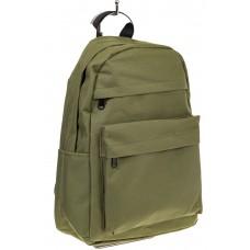 На фото простой рюкзак, цвет – оливковый, материал – текстиль, купить оптом в магазине Грета