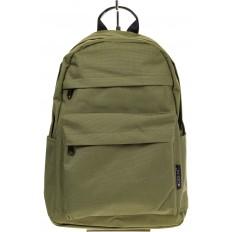 На фото 2 - Простой рюкзак из текстиля, цвет – оливковый