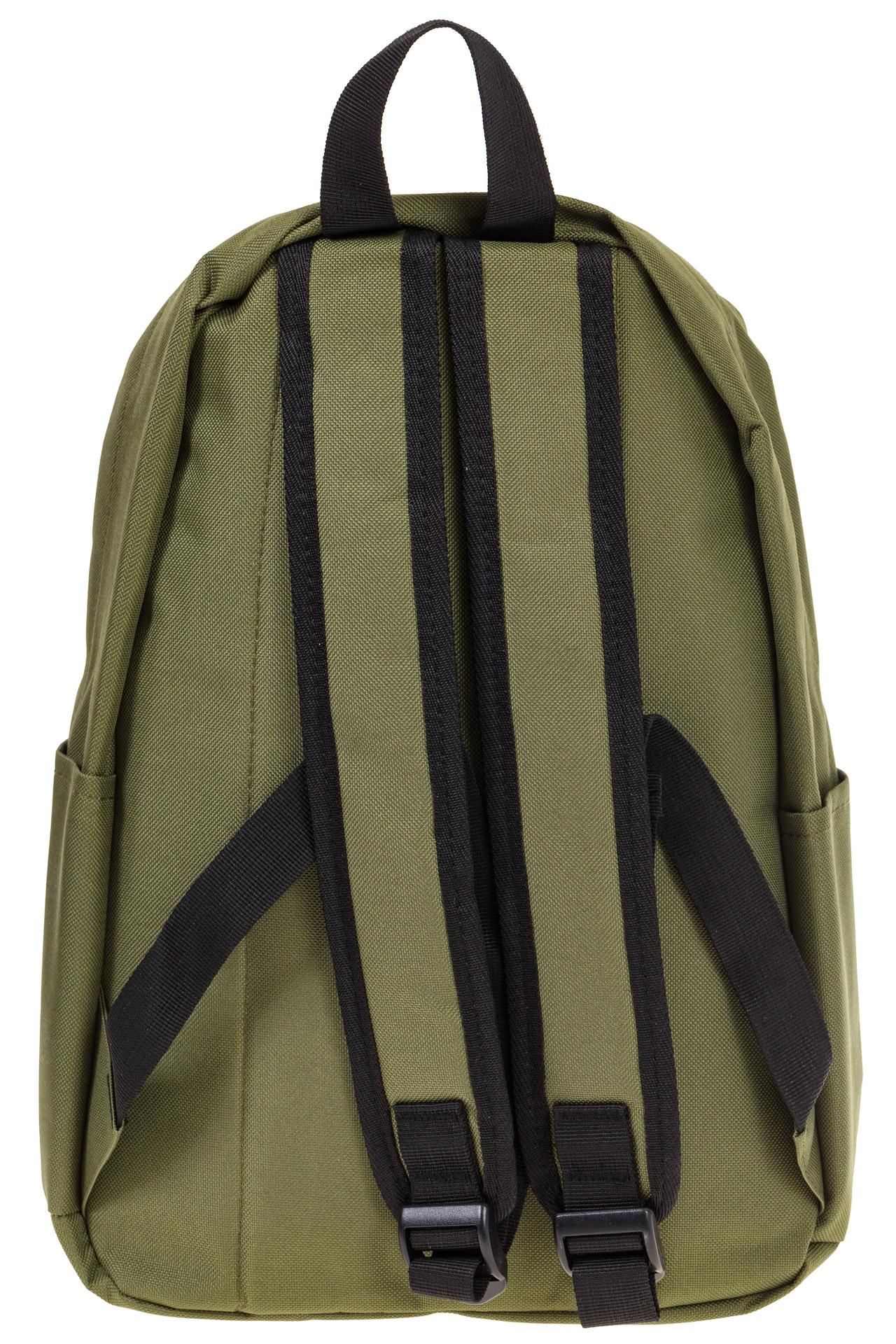 На фото 3 - Простой рюкзак из текстиля, цвет – оливковый