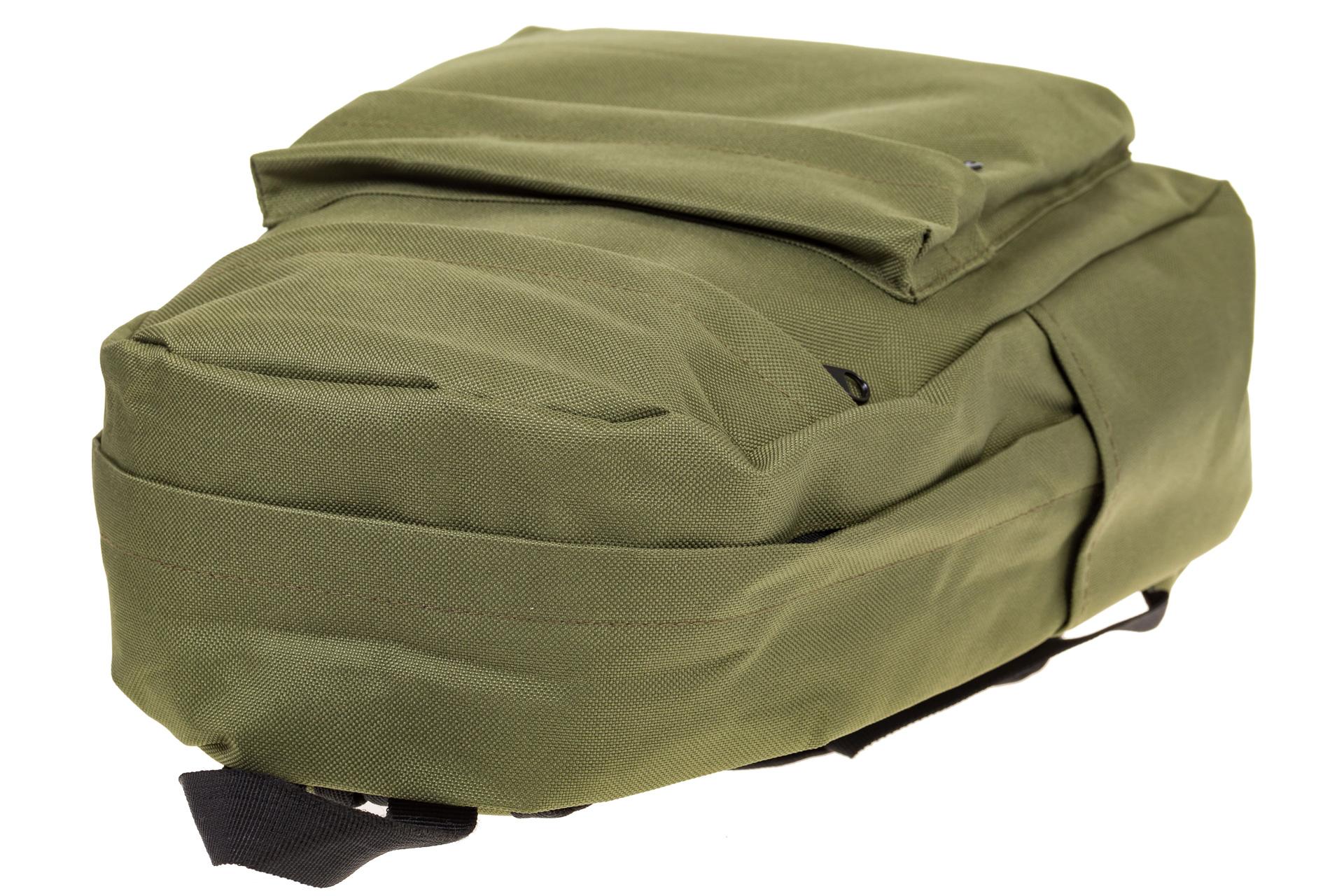 На фото 4 - Простой рюкзак из текстиля, цвет – оливковый