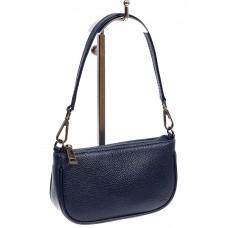 На фото 1 - Женская сумочка-малышка из натуральной кожи, цвет тёмно-синий