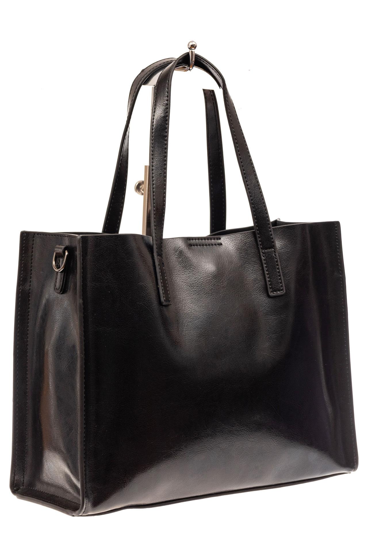 Женская сумка тоут из натуральной кожи, цвет черный910NK0520/1