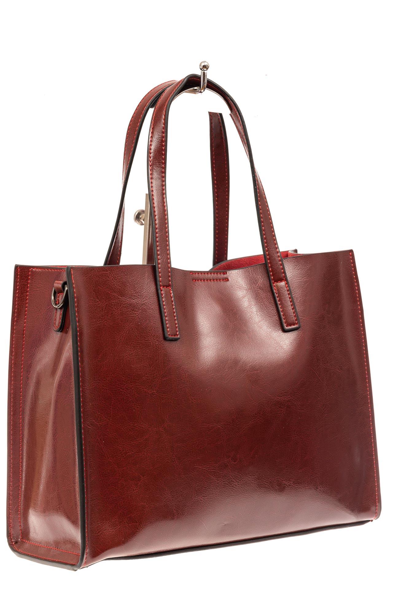 Женская сумка тоут из натуральной кожи, цвет бордовый910NK0520/4