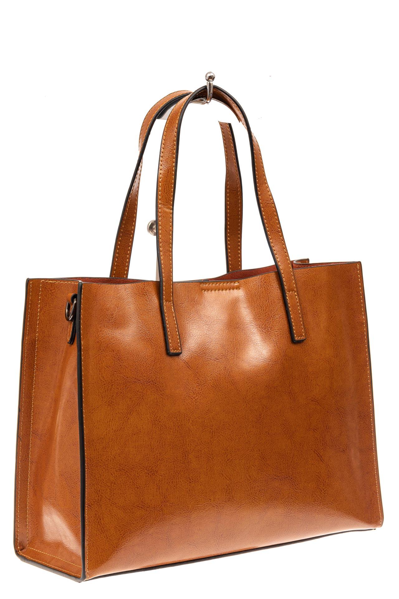 Женская сумка тоут из натуральной кожи, цвет рыжий910NK0520/5