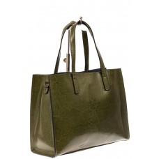 На фото 1 - Женская сумка тоут из натуральной кожи, цвет шоколадный