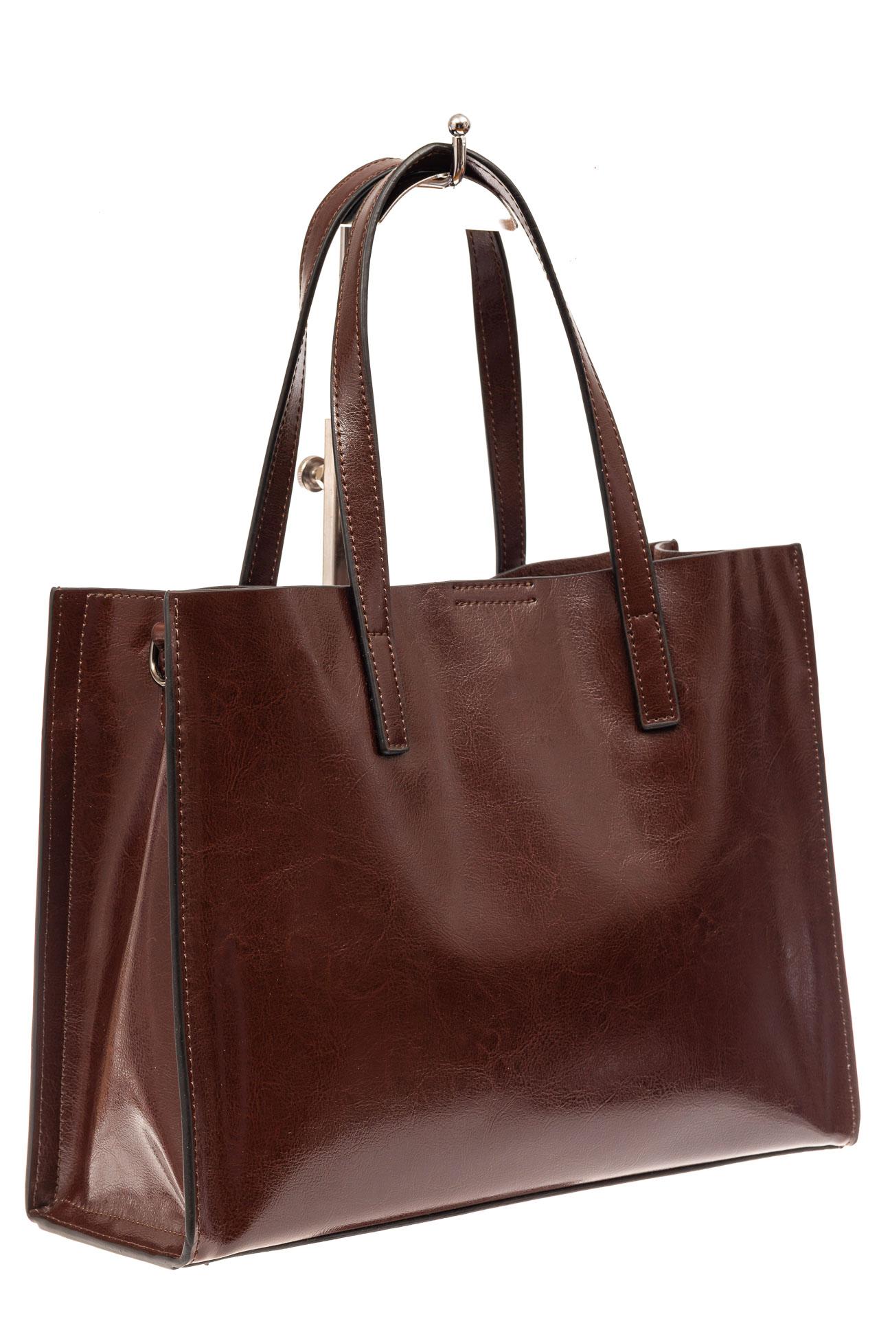 Женская сумка тоут из натуральной кожи, цвет зеленый910NK0520/7