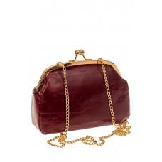 На фото 1 - Небольшая вечерняя сумочка с фермуаром, цвет бордо