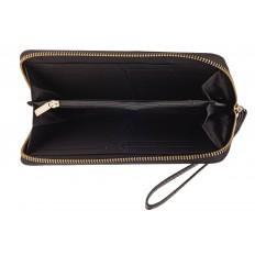 На фото 2 - Элегантное портмоне из натуральной кожи, цвет черный