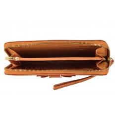 На фото 2 - Элегантное портмоне из натуральной кожи, цвет рыжий