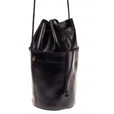 На фото 1 - Эффектная мини-торба из натуральной кожи, ц...