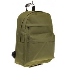 На фото универсальный молодежный рюкзак, цвет – оливковый, материал – текстиль, купить оптом в магазине Грета