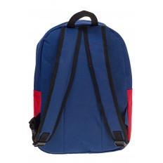 На фото 3 - Универсальный молодежный рюкзак из текстиля, цвет – сине-красный