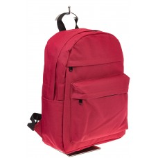 На фото универсальный молодежный рюкзак, цвет – красный, материал – текстиль, купить оптом в магазине Грета