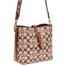 На фото 1 - Небольшая сумка кросс-боди из искусственной кожи, цвет коричневый