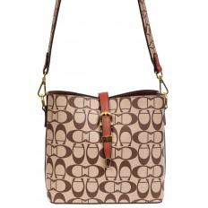 На фото 2 - Небольшая сумка кросс-боди из искусственной кожи, цвет коричневый