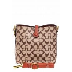 На фото 3 - Небольшая сумка кросс-боди из искусственной кожи, цвет коричневый