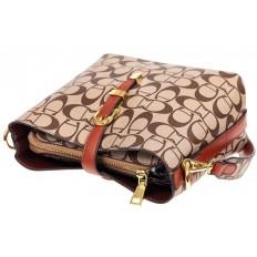 На фото 4 - Небольшая сумка кросс-боди из искусственной кожи, цвет коричневый