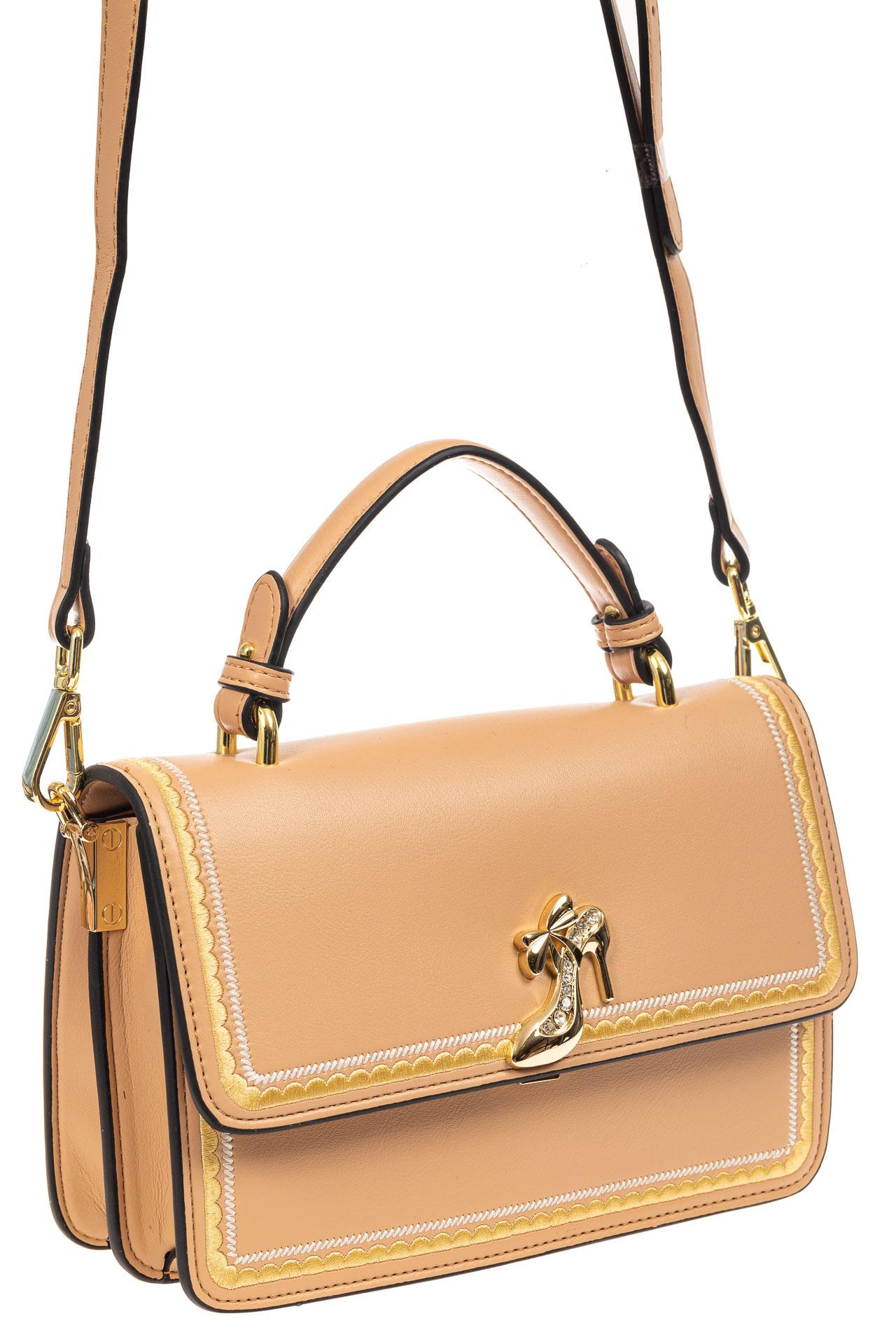 Женская сумка-малышка из экокожи, бежевая9190PJ0520/10