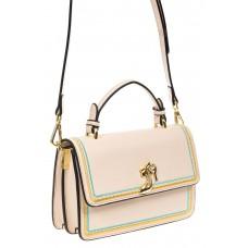 На фото 1 - Женская сумка-малышка из экокожи, цвет молочный