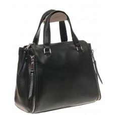 На фото 1 - Женская сумка из натуральной кожи, цвет чер...
