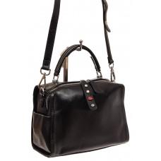 На фото 1 - Мягкая сумка-коробочка из натуральной кожи, цвет черный