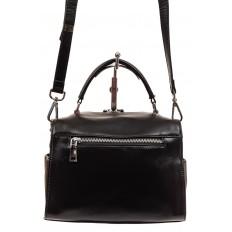 На фото 2 - Мягкая сумка-коробочка из натуральной кожи, цвет черный