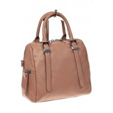 На фото 1 - Женская сумка из натуральной кожи, цвет пуд...