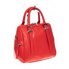 На фото 1 - Женская сумка из натуральной кожи, цвет кра...