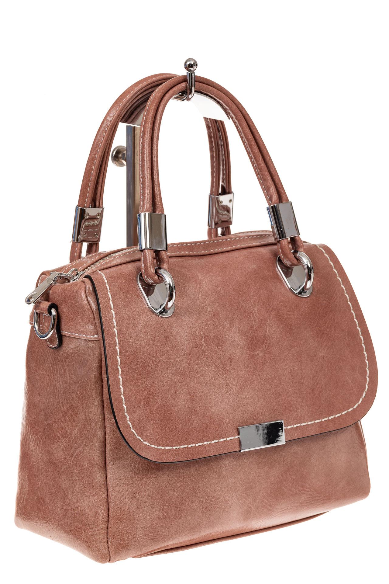 Летняя женская сумка из искусственной кожи, цвет пудра9251PM5/16