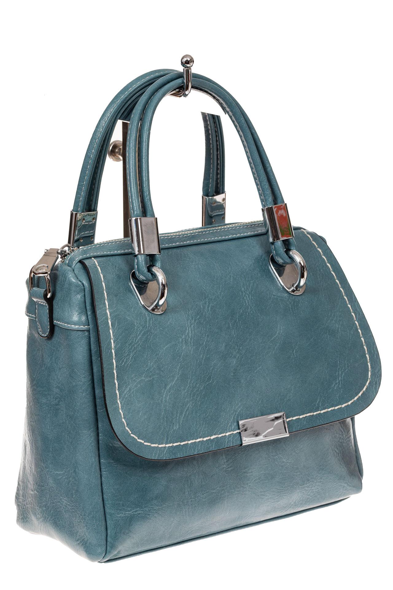 Летняя женская сумка из искусственной кожи, цвет голубой9251PM5/18