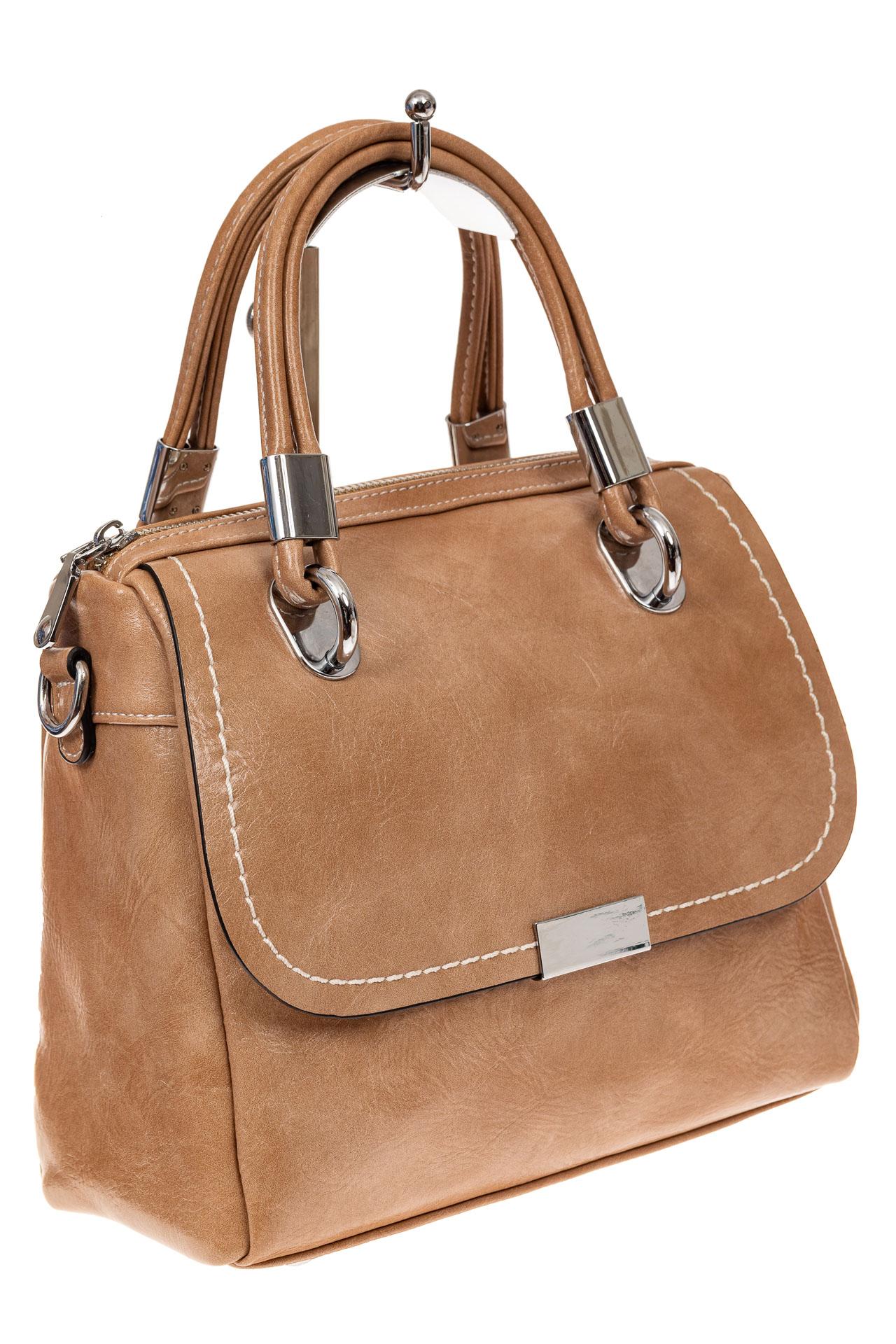 Летняя женская сумка из искусственной кожи, цвет кофе с молоком9251PM5/6