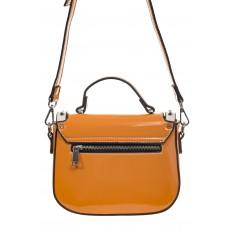 На фото 3 - Оранжевая сумка сэдл из эко-кожи 929-1
