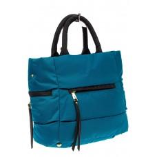 На фото 1 - Дутая сумка женская из болоньевой ткани, цвет голубой