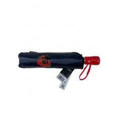 На фото 3 - Женский зонт-полуавтомат с цветочным принтом, чёрный