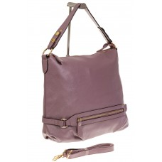 На фото 1 - Женская сумка Хобо из натуральной кожи свет...