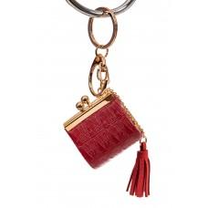На фото 1 - Брелок сумка с фермуаром на карабине, цвет ...