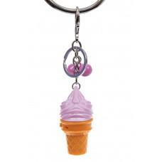 На фото 1 - Свето-музыкальный брелок мороженое, цвет сирень