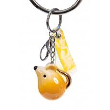 На фото 1 - Брелок мышь из глянцевой керамики, цвет желтый