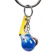 На фото 1 - Брелок мышь из глянцевой керамики, цвет синий
