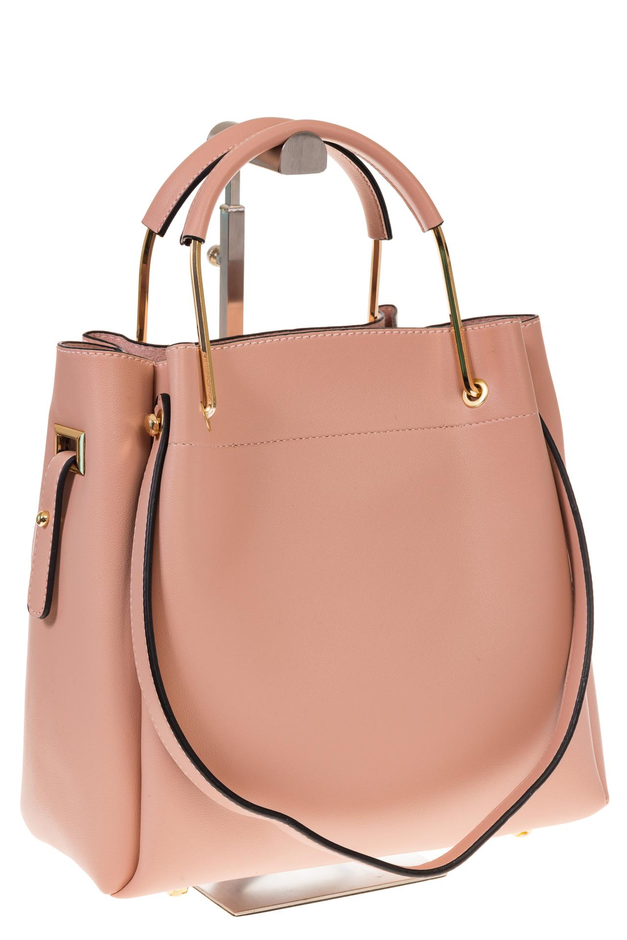 на фото Сумка-мешок из искусственной кожи розового цвета 9375MJ5