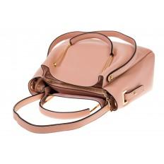 На фото 4 - Сумка-мешок из искусственной кожи розового цвета 9375MJ5