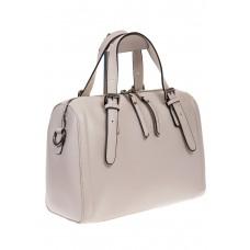 На фото 1 - Белая женская сумка из натуральной кожи 937