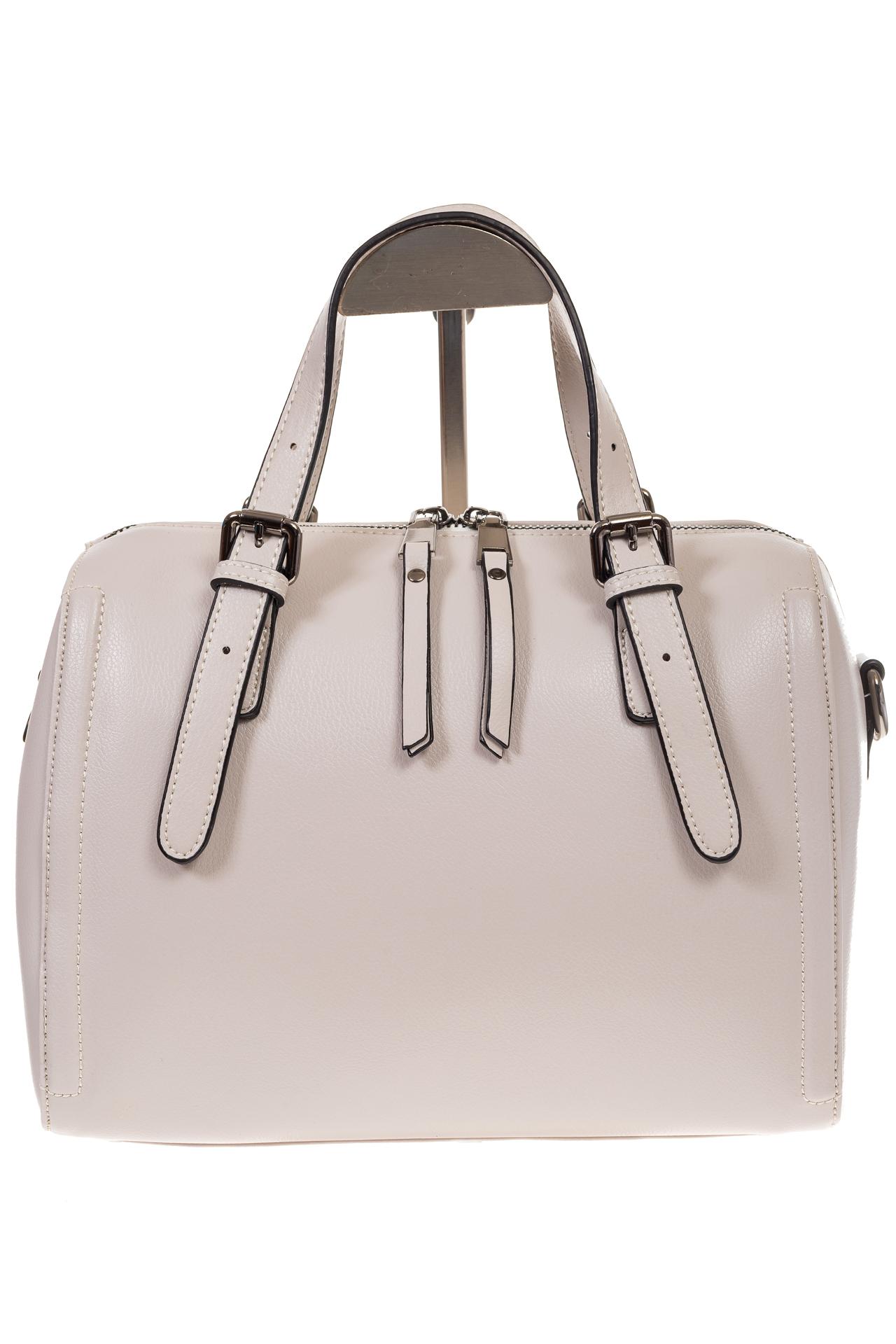 На фото 2 - Белая женская сумка из натуральной кожи 937
