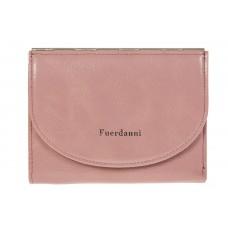 На фото 1 - Женский кошелек из искусственной кожи розового цвета