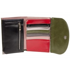 На фото 2 - Брендовый женский кошелек из искусственной кожи зеленого цвета