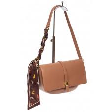 На фото 1 - Женская сумка-седло из искусственной кожи с твилли, пыльная роза