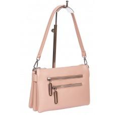 На фото 1 - Розовая сумка кросс-боди из мягкой искусственной кожи