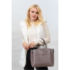 На фото 1 -  Женская сумка тоут из гладкой экокожи, цвет пыльная роза