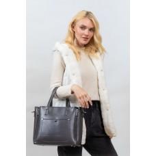 На фото 1 -  Женская сумка тоут из гладкой экокожи, цвет графит