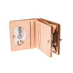 На фото 2 - Кошелек-портмоне из искусственной кожи, цвет оранжевый